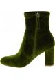 Steve Madden Modische Damen Stiefeletten mit Blockabsatz aus grünem Samt