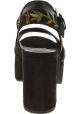 Steve Madden Damen Plateau Sandalen gestickt aus mehrfarbigem Wildleder