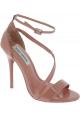 Steve Madden Damen Sandalen mit hohem Absatz aus pinkfarbenem Lackleder