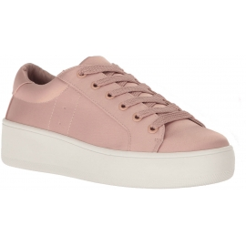 Steve Madden Sneakers Schnürschuhe für Damen aus pinkfarbenem Satin