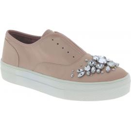 Steve Madden Fashion Slip-on Schuhe und juwel für Damen in rosa Leinwand