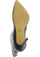 Steve Madden Damen Stiefeletten mit Stöckelabsatz aus schwarzem Lackleder