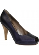 Marni zehenoffenen Pumps in lila metallic-Leder
