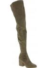 Steve Madden Damen Stiefel mit quadratischen Absätzen aus taupe Wildleder