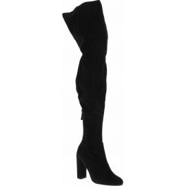 Steve Madden Stiefel mit hohen Absätzen für Damen aus schwarzem Wildleder