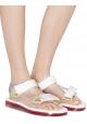 Melissa Damenmode flache Sandalen aus weißem Gummi mit Klettverschluss