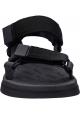 Melissa Damenmode flache Sandalen aus schwarzem Gummi mit Klettverschluss