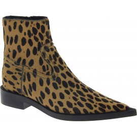 Maison Margiela Spitze Damen Stiefeletten aus Kalbsleder mit Leopardenmuster