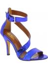 Paris Texas Sandalen mit hohem Absatz für Damen aus blauem Pythonleder