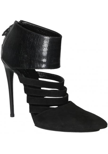 Balenciaga schwarzem Wildleder Stiletto Highheels Stiefeletten