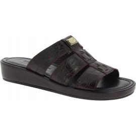 Dolce&Gabbana Herren mode Sandalen Schuhe aus dunkelbraunem Krokodilleder