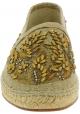 Dolce&Gabbana Herren Espadrilles aus beigem Kaimanleder und Stoff mit Perlen