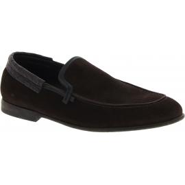 Dolce&Gabbana Herren mode Mokassins Schuhe aus dunkelbraunem Wild Kaiman Leder