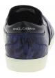 Dolce&Gabbana Slip-On Sneakers für Herren Krokodildruck aus blauem Kaimanleder