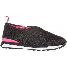 Hogan Slip-On Sneakers schnurSchuhe für Damen aus schwarzem Glitzerstoff