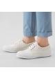 Hogan Gestreifte Sneakers Schnürschuhe für Damen mode aus beigem Canvas