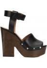 "Givenchy ""Sofia"" clogs Sandalen aus schwarzem Kalbsleder"