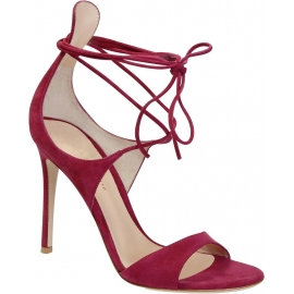 Gianvito Rossi High Heel Sandalen in Fuchsia Wildleder