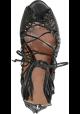 Alaïa High Heel Sandalen in schwarzen Riemchen Leder