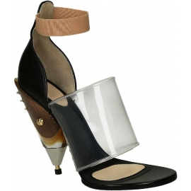 Givenchy Block High Heel Sandalen in schwarz Kalbsleder