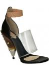 Givenchy Block High Heel Sandalen in schwarz Kalbsleder