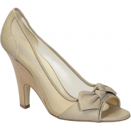Stella McCartney zehenoffenen Pumps in Beige Kunstleder
