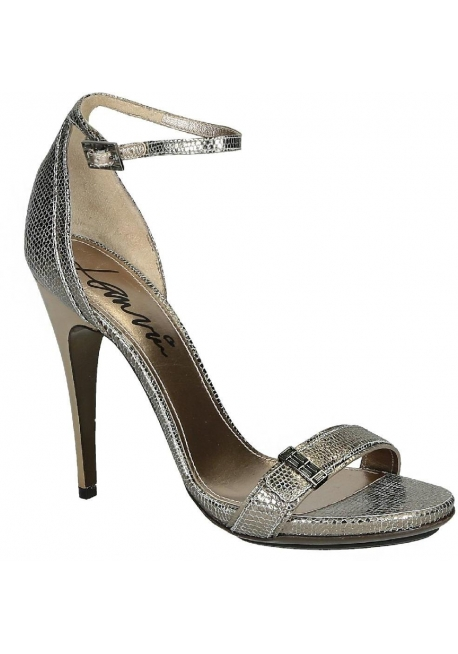 Lanvin High Heel Sandalen in Metallic-Kalbsleder