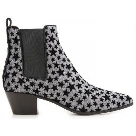 Saint Laurent Ankle Boots Anthrazit Glitzer