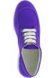 Hogan Low-Top Sneakers für Damen mit abgerundeten Zehen aus lila Leinwand
