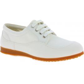 Hogan Low Top Sneakers mode Schnürschuhe für Damen aus weißem Leinwand