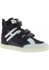 Hogan High-Top-Sneakers Schuhe für Damen aus weißem schwarzem Leder und Stoff