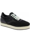 Hogan Zweifarbige Damen Sneakers Schuhe aus schwarzem Leder und Stoff