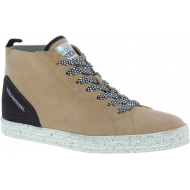 Hogan High-Top Sneakers Schnürschuhe mode für Damen aus beigem Wildleder
