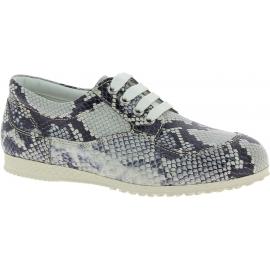 Hogan Sneakers Schuhe für Damen aus weißgrauem Kalbsleder mit Python-Muster
