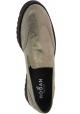 Hogan Slip-On-Schuhe für Damen mode aus metallisch grauem Kalbs leder