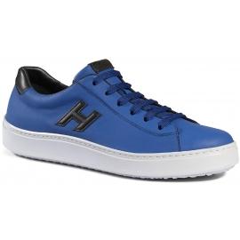 Hogan H302 Herren-Turnschuhe Schuhe aus blauem Leder