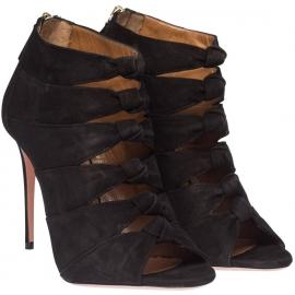 Aquazzura High Heel Sandalen in schwarz Veloursleder