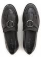 Hogan Damen-schwarzes Leder Loafer mit Fransen