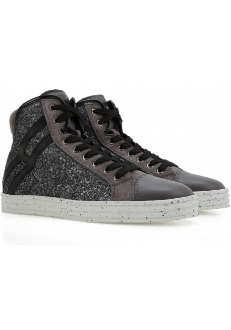 Hogan Rebel Frauen High Top Glitzer Leder Turnschuhe