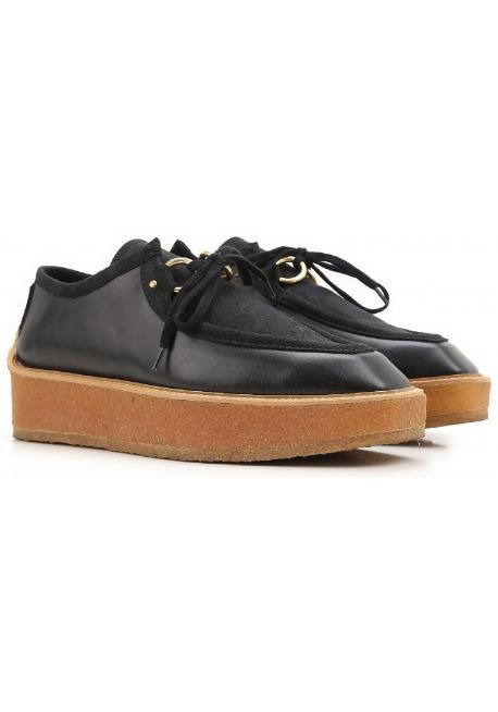 Stella McCartney Damen Keil Schnürsenkel Schuhe schwarz