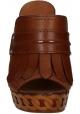 Casadei Sandalen mit Plattform in Tan Leder