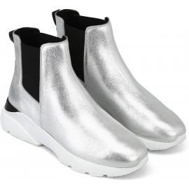 Chelsea-Stiefel von Hogan für Damen aus silbernem Leder