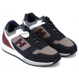Hogan Modische Sneakers mit abgerundeten Zehen für Herren aus mehrfarbigem Leder