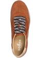 Hogan Damen mode-Sneaker aus ziegelrot glitzerndem Leder mit farbigen Schnürsenkeln