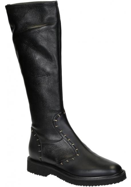 Giuseppe Zanotti Kniehohe Stiefel aus schwarzem Leder