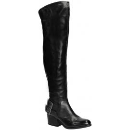 Vic Matié Oberschenkel hohe Stiefel in schwarzem Leder