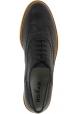 Hogan Damen Brogues Schuhe aus schwarzem Leder mit weißer Sohle