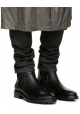 Niedrige Lanvin Damenstiefeletten aus schwarzem Leder