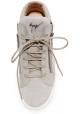 Hohe Sneakers für Damen von Zanotti mit Schnürsenkeln aus grauem Leder