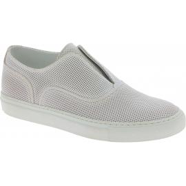 Sartore Damen Slip-On Sneakers aus weißem Leder